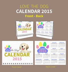 LOVE THE DOG CALENDAR 2015 COVER vector