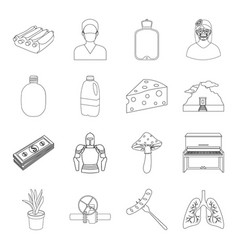 Medicine army cooking and other web icon in vector