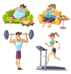 Obesity And Health Set vector