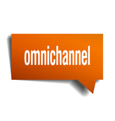 Omnichannel orange 3d speech bubble vector