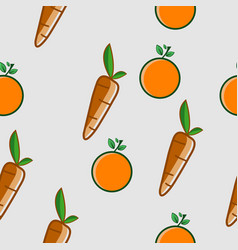 orange and carrot seamless background vector image