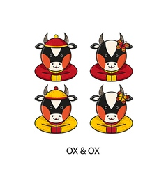 Ox Chinese vector image