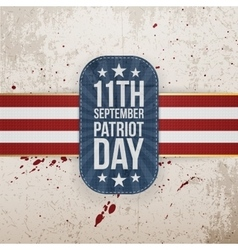 Patriot Day 11th September national Tag vector