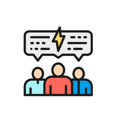 People with speech bubble discussion vector