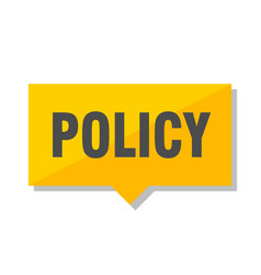 Policy price tag vector