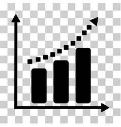 Positive trend icon vector