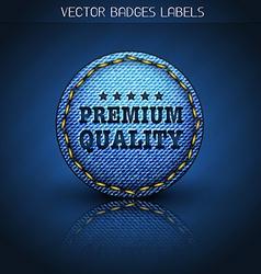 premium jeans label vector image