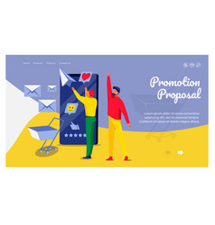 Promotion proposal landing page template vector