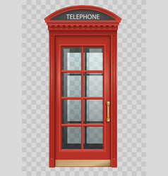 Red english telephone booth vector