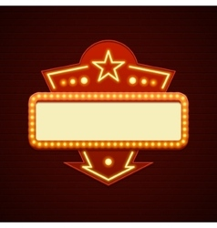 Retro Showtime Sign Design Cinema Signage Light vector