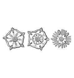 Rose-en-soleil argent of the house of york vector