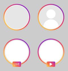 Set instagram stories icon vector