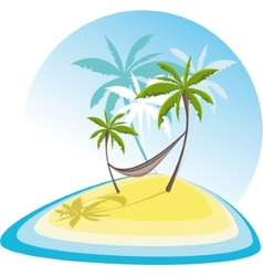 simple with tropical island vector image