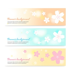 Spring banner background with cherry blossom vector