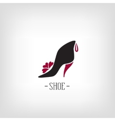Stylized womens shoes icon shoe store logo vector
