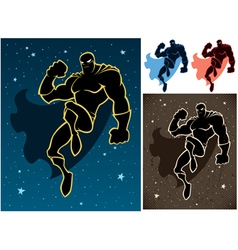 Superhero In The Sky vector