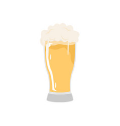 Tall glass beer cafe vector