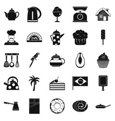 Tavern icons set simple style vector