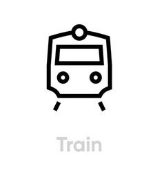 train icon editable transport single line vector image