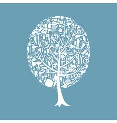 Tree a bath vector image