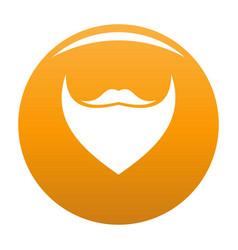 Triangular beard icon orange vector