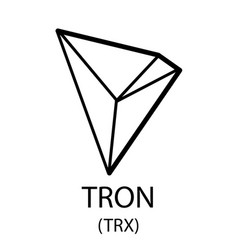 tron cryptocurrency symbol vector image