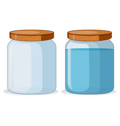 two containers with and withou water vector image