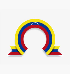 venezuelan flag rounded abstract background vector image