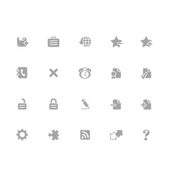 Web icons 32 pixels icons white series vector