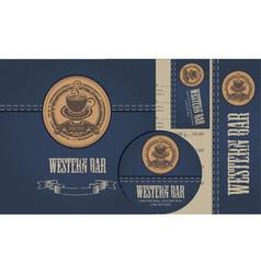 western bar vector image