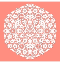 White ace doily vector