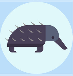 Wildlife bristling porcupine vector