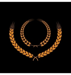 Wreath of wheat ears vector image