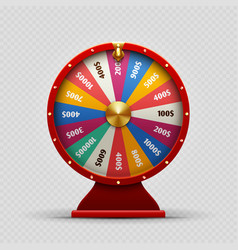 colorful realistic casino fortune wheel on vector image vector image