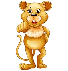 Cute lion standing alone vector image