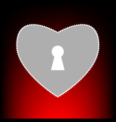 heart woth lock vector image