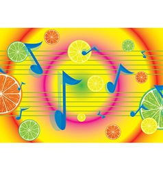 Juicy melody background vector image