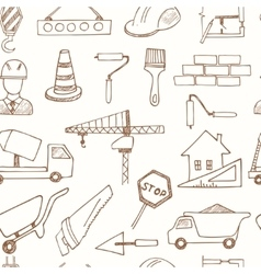 Seamless pattern with doodle sketch Architecture vector image vector image