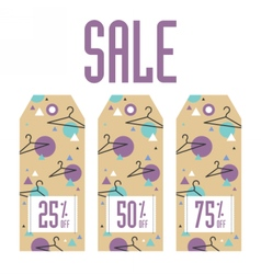 Set of sale tags Different values discount vector image vector image
