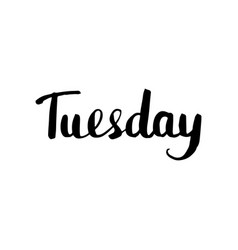 Tuesday lettering isolated vector
