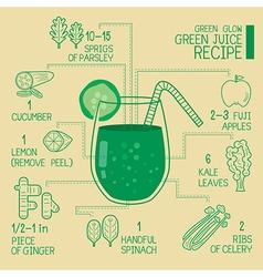 Green glow green juice recipes great detoxify vector image