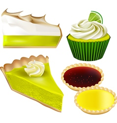 Patisserie Collection - Lime and Lemon vector image vector image