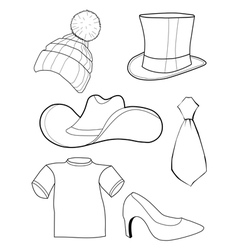set of clothes and accessories vector image vector image