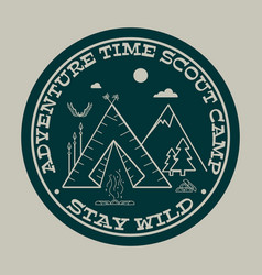 adventure time stay wild vector image