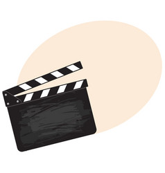 blank cinema production black clapper board vector image