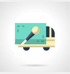 concert truck flat color icon vector image