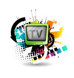 cute retro tv vector image