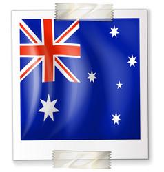Flag of australia on square paper vector