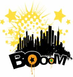 boom city vector image