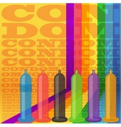 Condoms striped background vector image